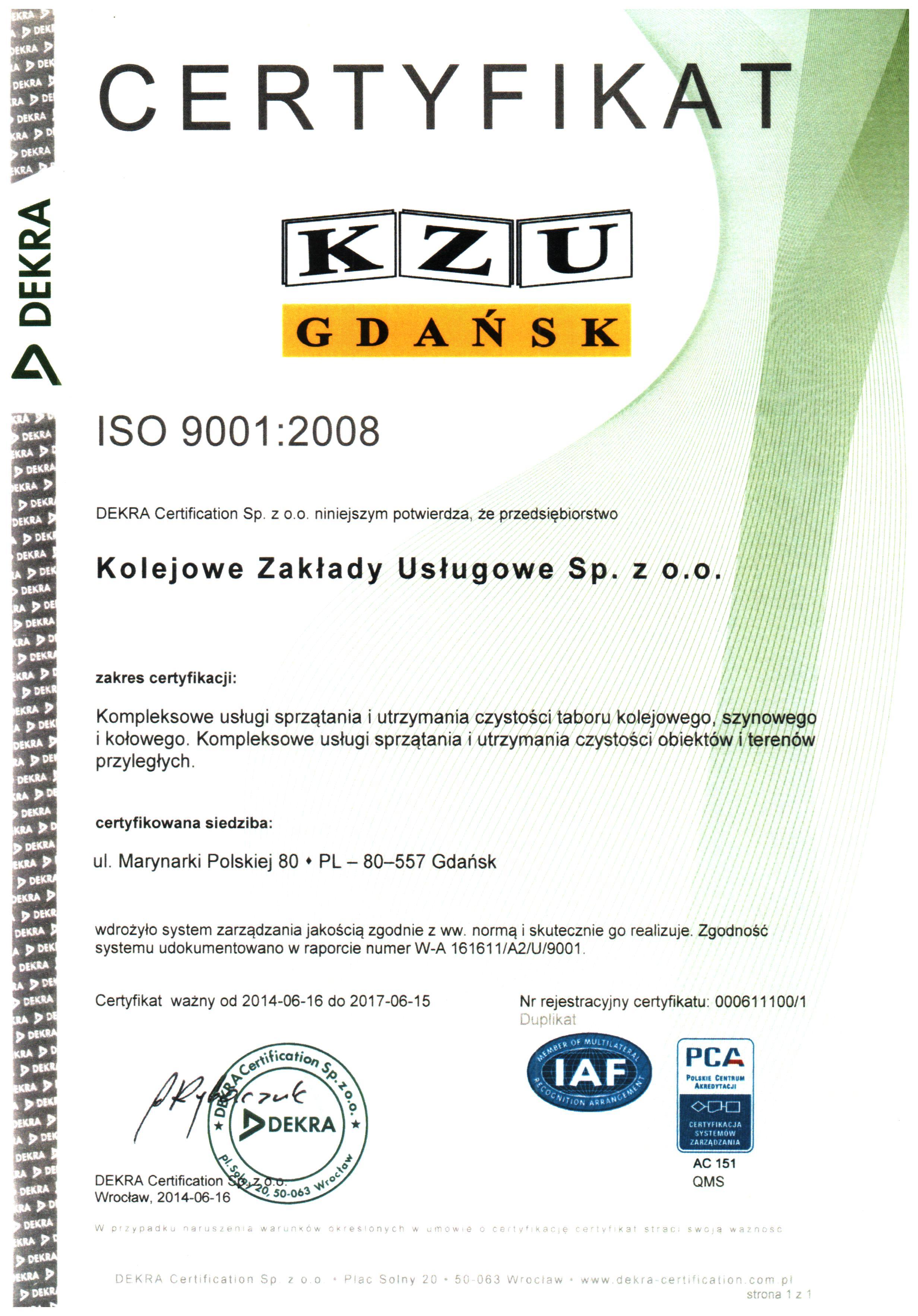 PN-EN ISO 9001:2008
